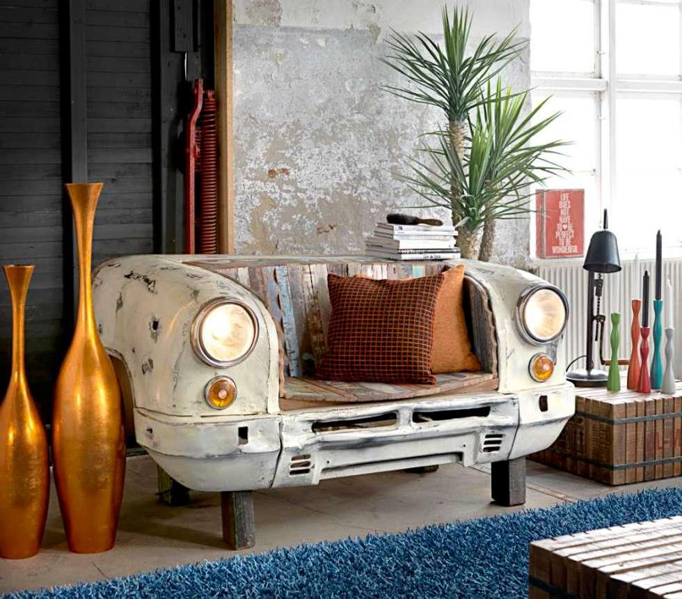 ausgefallene wohnzimmer bilder: vintage sitzbank taxi front | homify, Hause deko