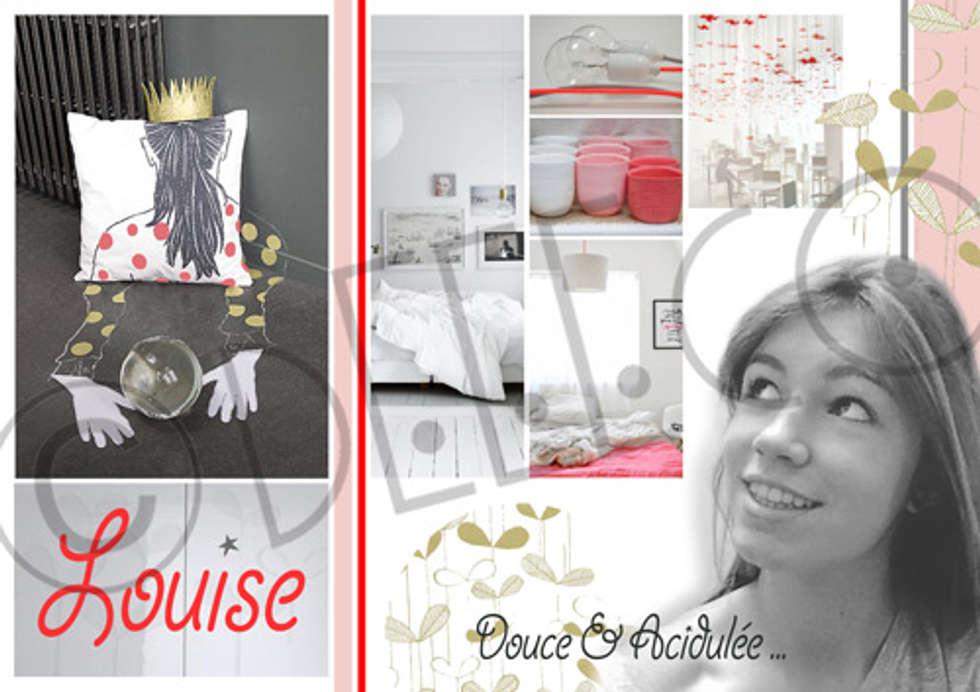 """""""Douceur acidulée"""" - Chambre adolescente: Chambre de style de style Scandinave par dEEEco"""