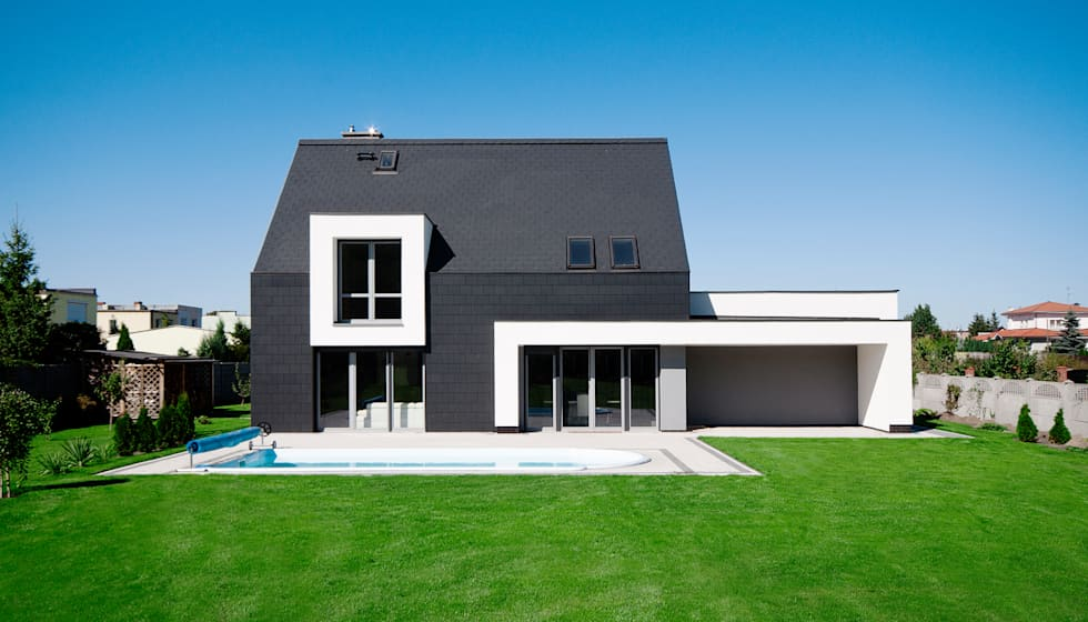 Dom w Bydgoszczy : styl nowoczesne, w kategorii Domy zaprojektowany przez AAYE Architekci