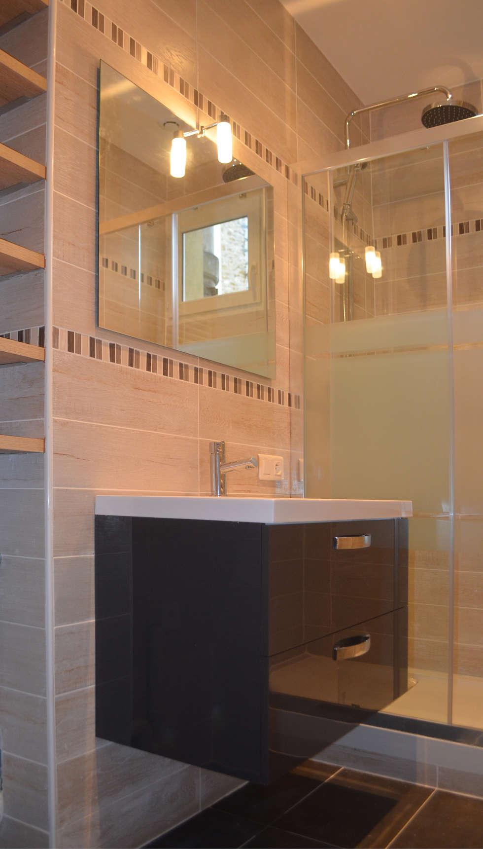 l'esprit natuerelle: Salle de bains de style  par 2 par mètre