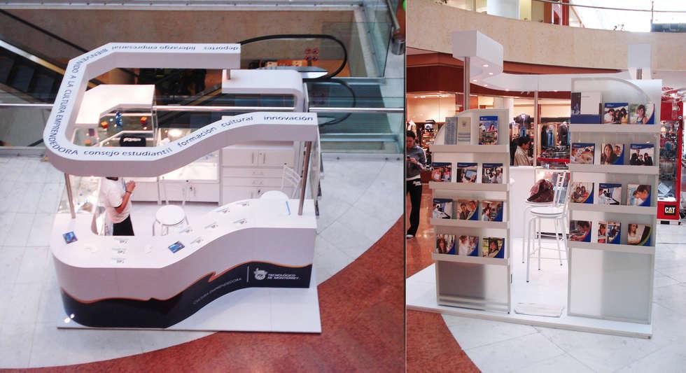 Tecnológico de Monterrey: Centros Comerciales de estilo  por Xarzamora Diseño