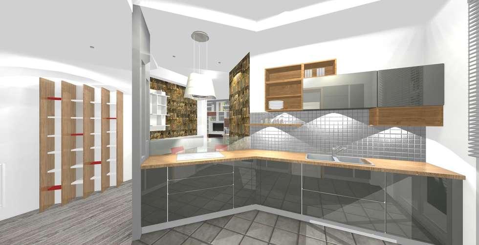 Cucina- zona operativa: Cucina in stile in stile Moderno di Bludiprussia design
