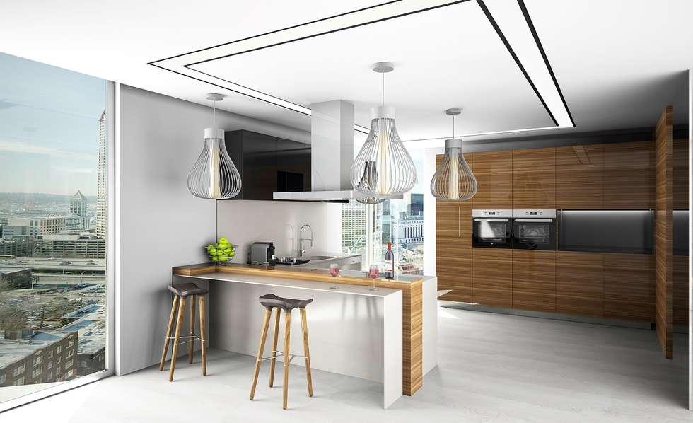 Cozinha : Cozinhas ecléticas por Live Decoration
