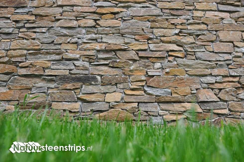 Moderne Natuurstenen Muren zonder voeg: moderne Huizen door The Flagstone Company BV