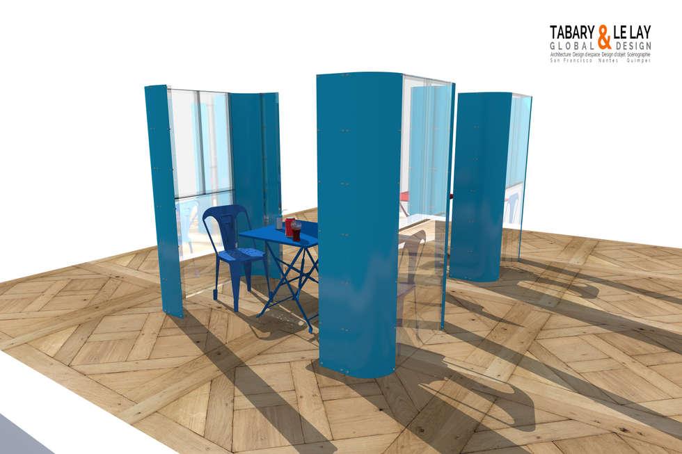 le plan à 2: Jardin de style de style Moderne par Tabary Le Lay