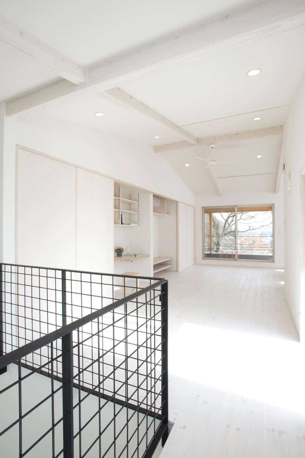 見晴らしの家: アトリエdoor一級建築士事務所が手掛けたリビングです。