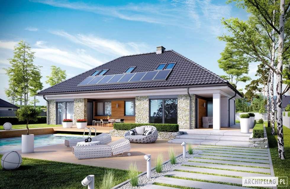 Projekt domu Magnus II G2 : styl nowoczesne, w kategorii Domy zaprojektowany przez Pracownia Projektowa ARCHIPELAG