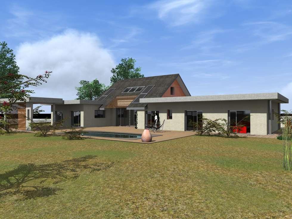 Maison Contemporaine: Maisons de style de style Moderne par AeA - Architecture Eric Agro
