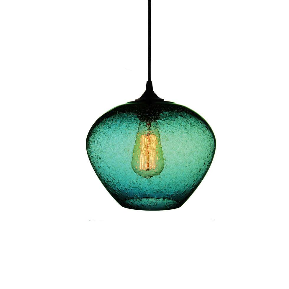 Rustica Turquesa - fondo blanco: Salas de estilo moderno por Luminosa ™