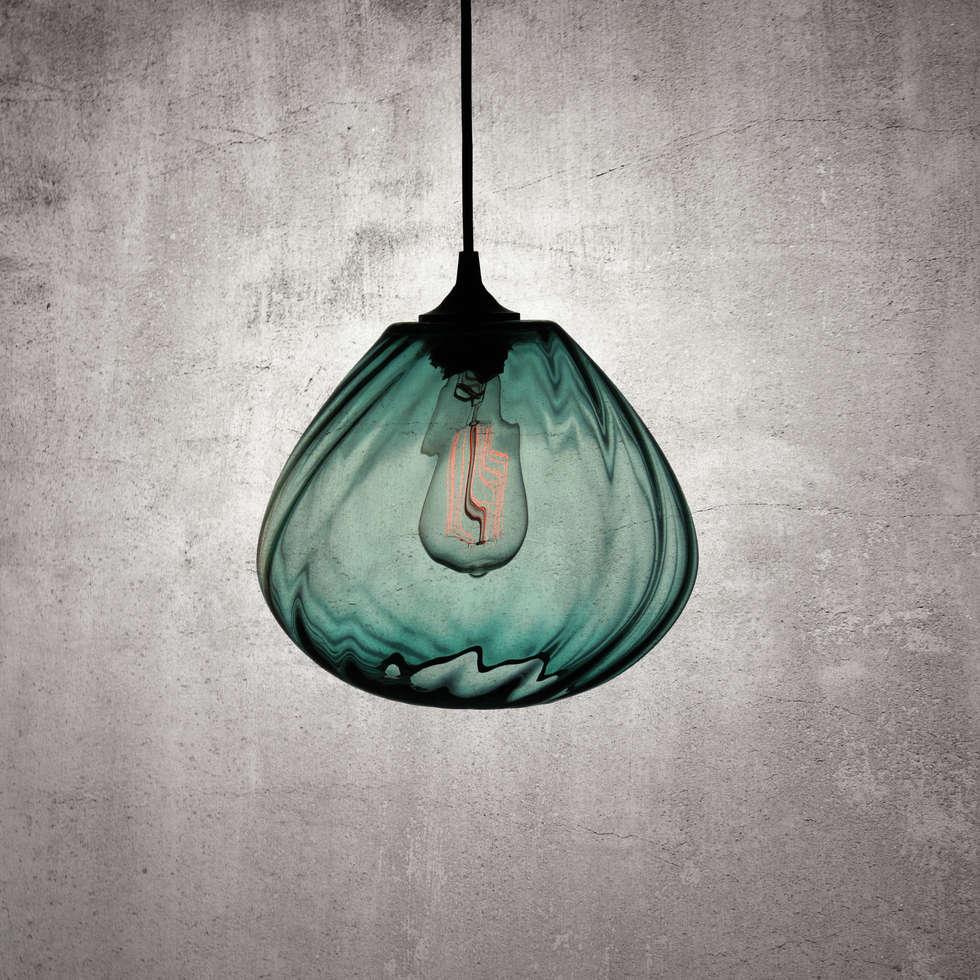 Twisters Turquesa: Salas de estilo moderno por Luminosa ™