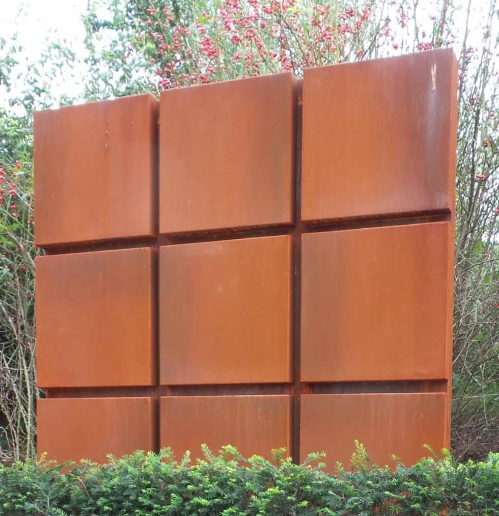 panneau acier corten latest mtallerie with panneau acier corten best mureaux facade corten. Black Bedroom Furniture Sets. Home Design Ideas