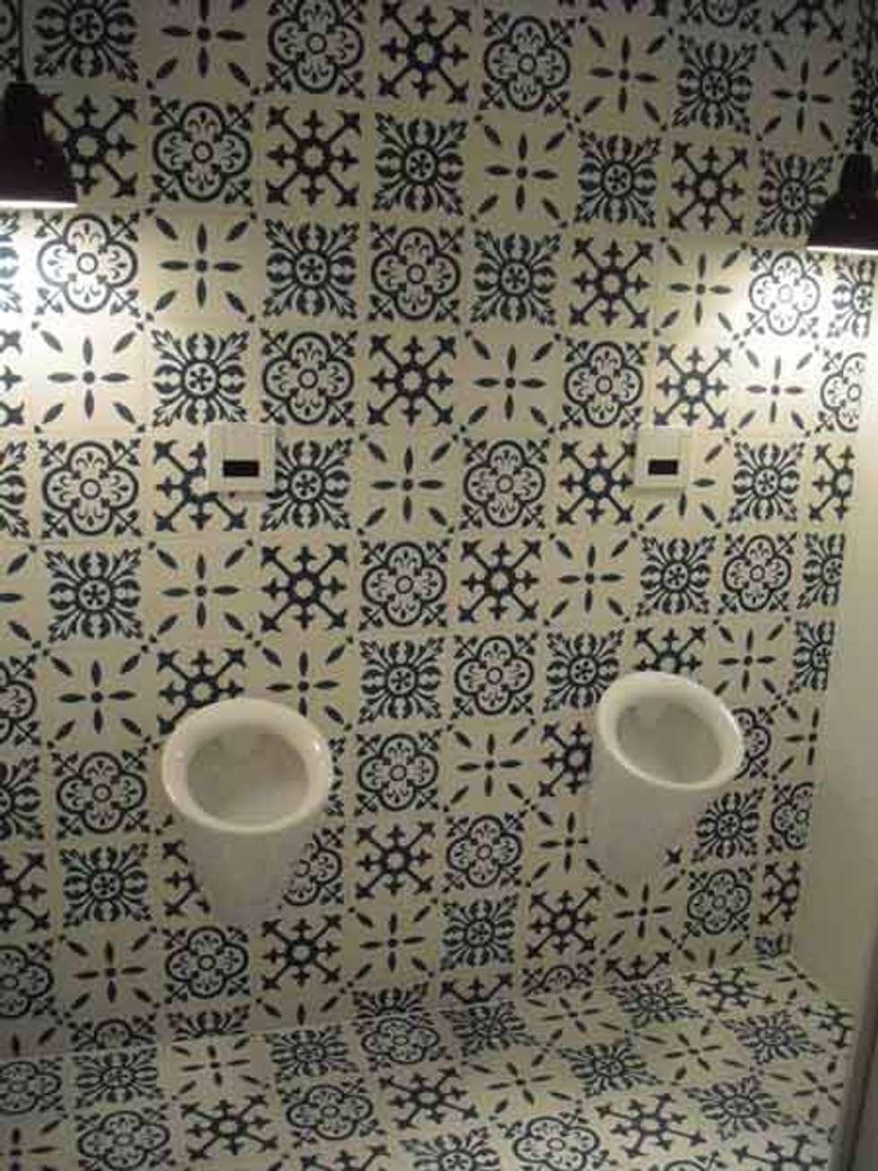 Cementtegels Patchwork zwart, wit, grijs:  Muren door Articima