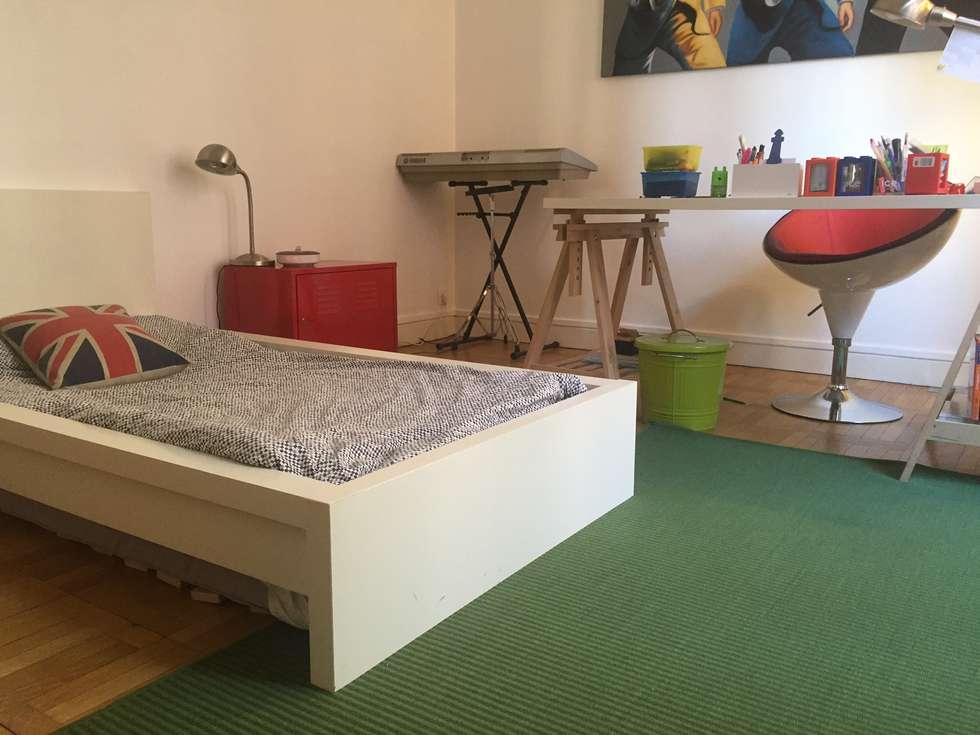 Positionnement des meubles: Chambre d'enfant de style de style Moderne par Myriem de Poncins