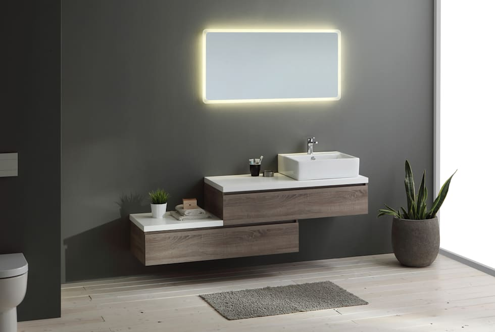 Idee arredamento casa interior design homify for Mobili bagno sospesi on line