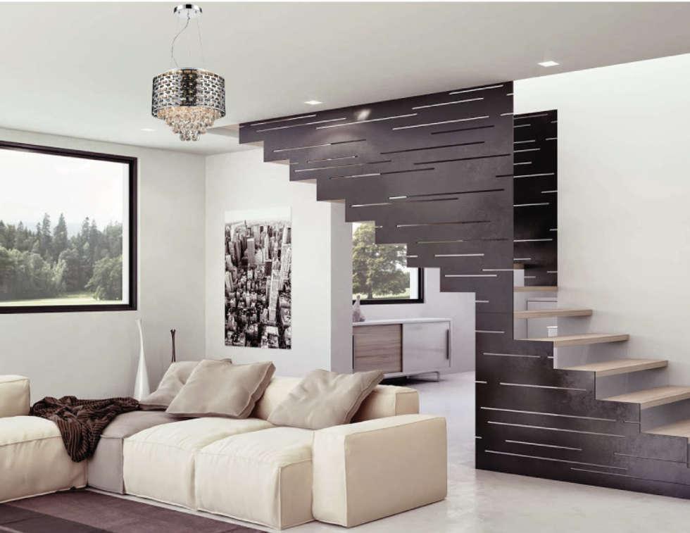 salas de estilo moderno por class iluminacin