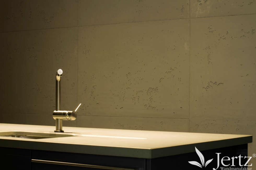 Wände Wie Sichtbeton: Moderne Küche Von Wandmanufaktur