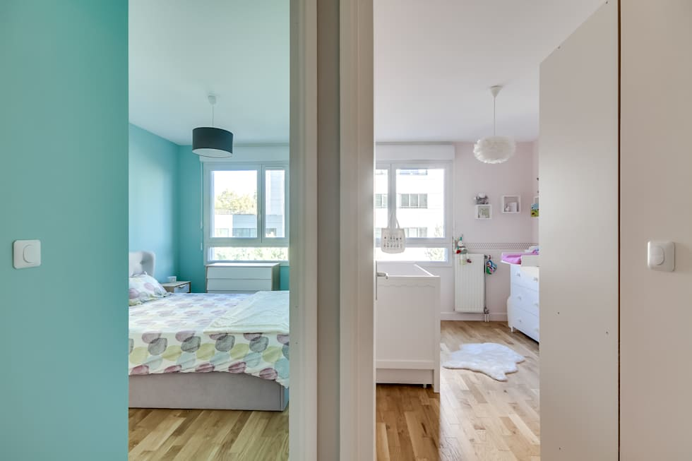 Chambres parents, bébé: Chambre de style de style Moderne par Decorexpat