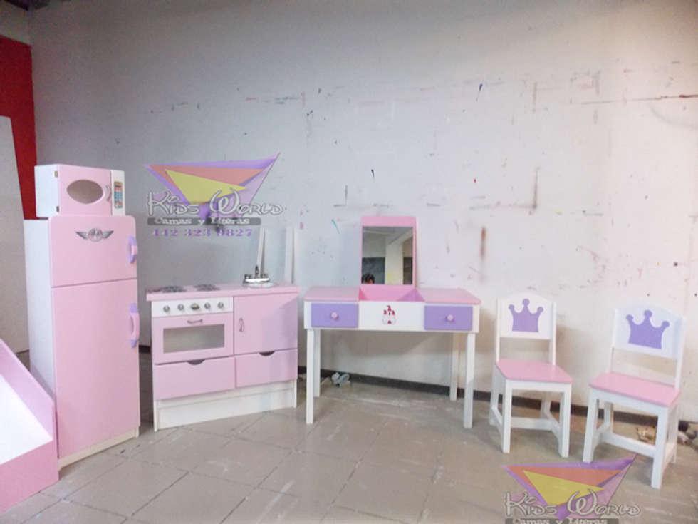 Femeninos y divertidos muebles para niñas: Recámaras infantiles de estilo moderno por camas y literas infantiles kids world