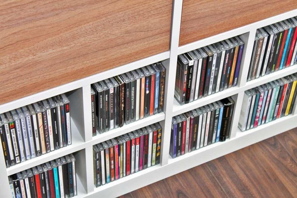 CD Einsatz Für Ikea Expedit Regal Bietet Ausreichend Platz Für Deine  Sammlung: Skandinavische Wohnzimmer Von