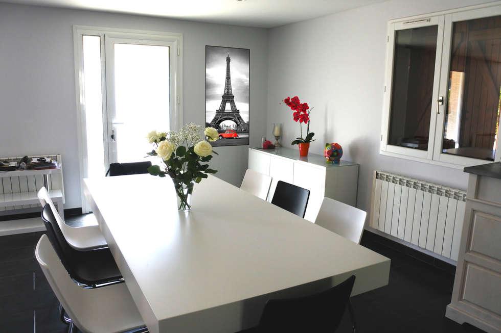 SALLE A MANGER: Salle à manger de style de style Moderne par X-ACT DESIGN