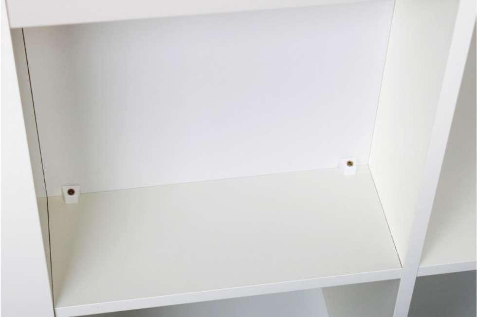 r ckwand f r ikea regal kallax in wei skandinavische arbeitszimmer von nsd new swedish design. Black Bedroom Furniture Sets. Home Design Ideas