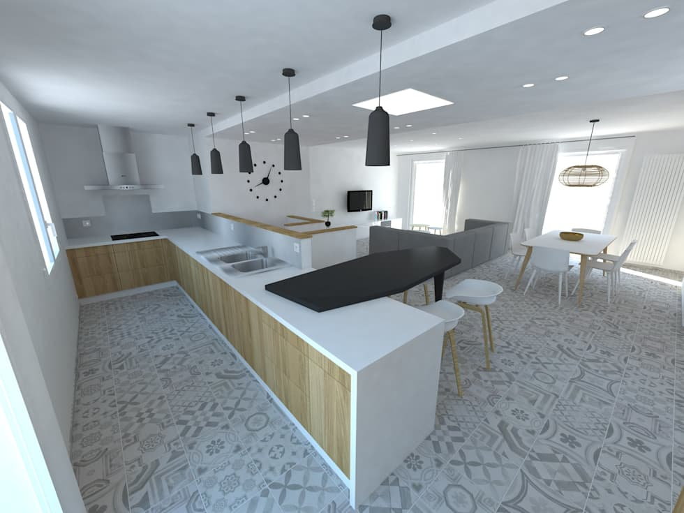 Réaménagement d'une maison: Cuisine de style de style Minimaliste par La Fable