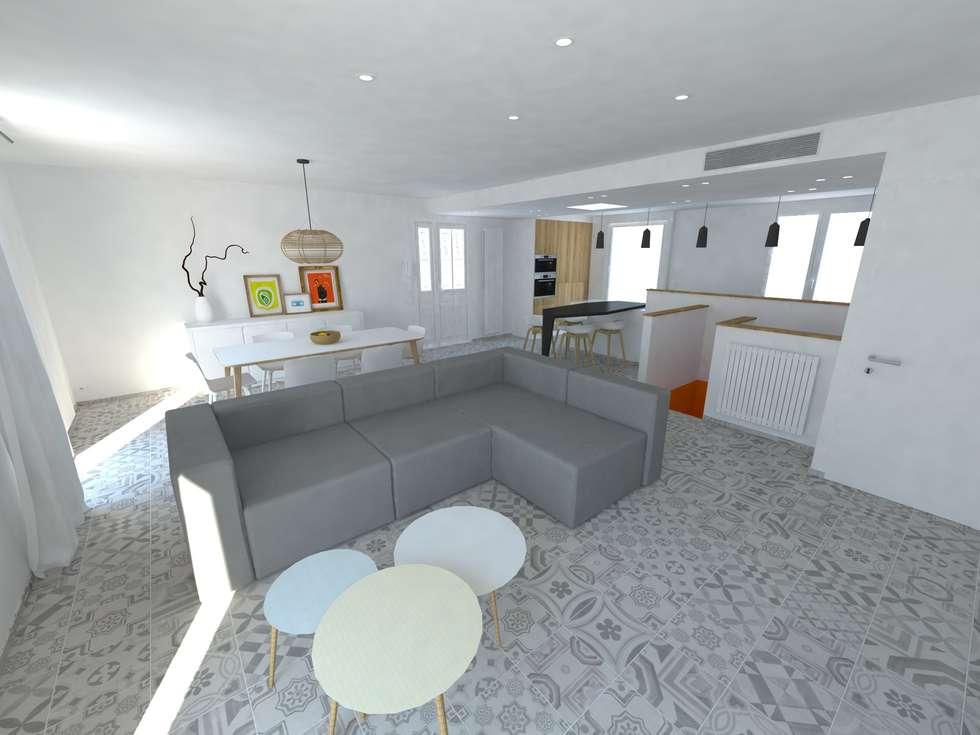Réaménagement d'une maison: Salon de style de style Minimaliste par La Fable