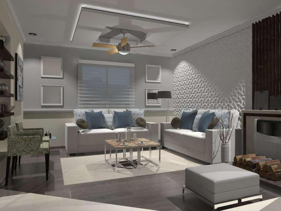 SALA: Salas de estilo moderno por AurEa 34 -Arquitectura tu Espacio-
