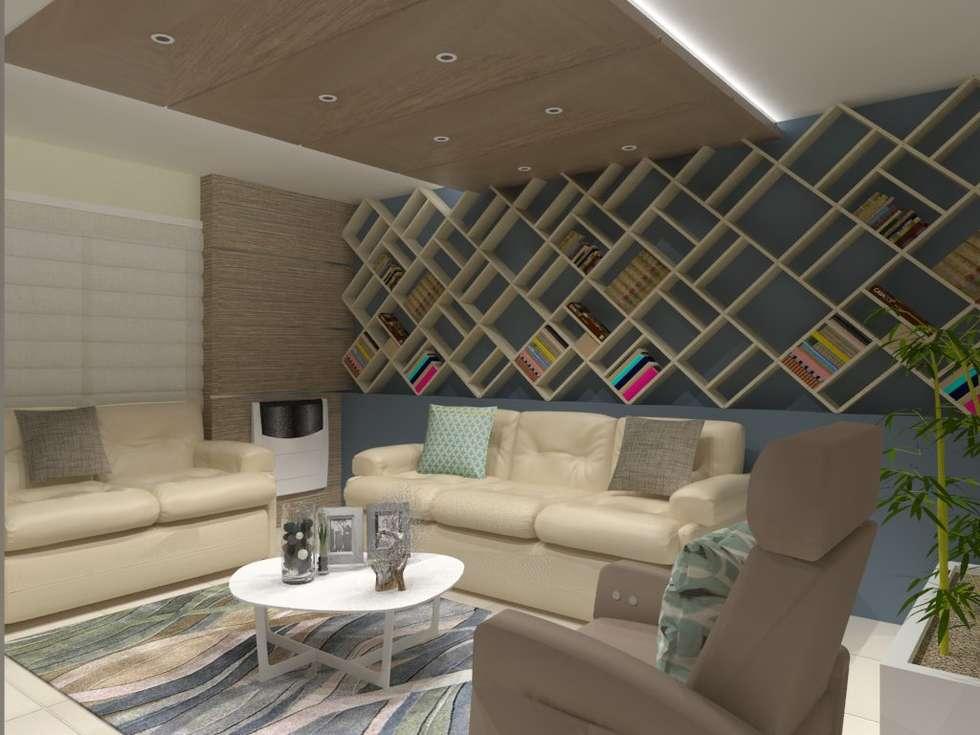 SALA MULTIMEDIA: Salas multimedia de estilo moderno por AurEa 34 -Arquitectura tu Espacio-