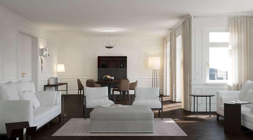 klassische wohnzimmer bilder: wohnwelt classic | homify, Wohnzimmer