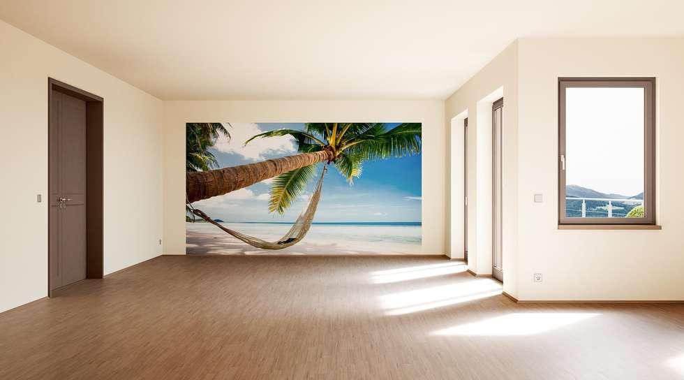 tropical Living room by makasa