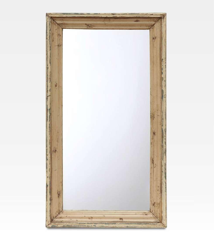 Specchiera indiana bianca  in legno di teak: Bagno in stile in stile Asiatico di Anthaus