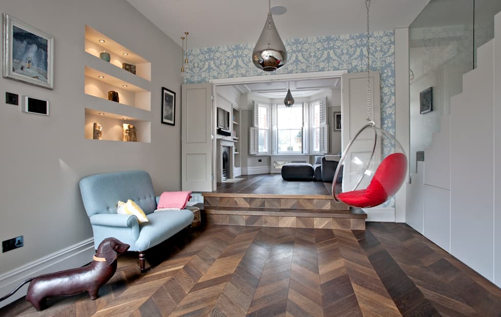 Foto di soggiorno in stile in stile minimalista di a1 ...
