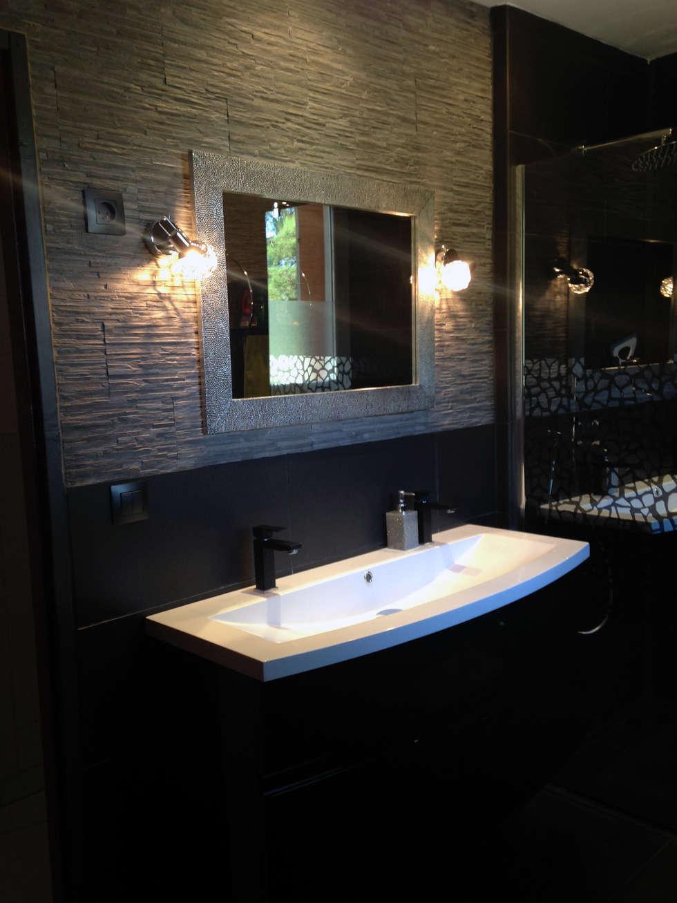 Salle de bain : Salle de bains de style  par Emilie Granato Architecture d'intérieur