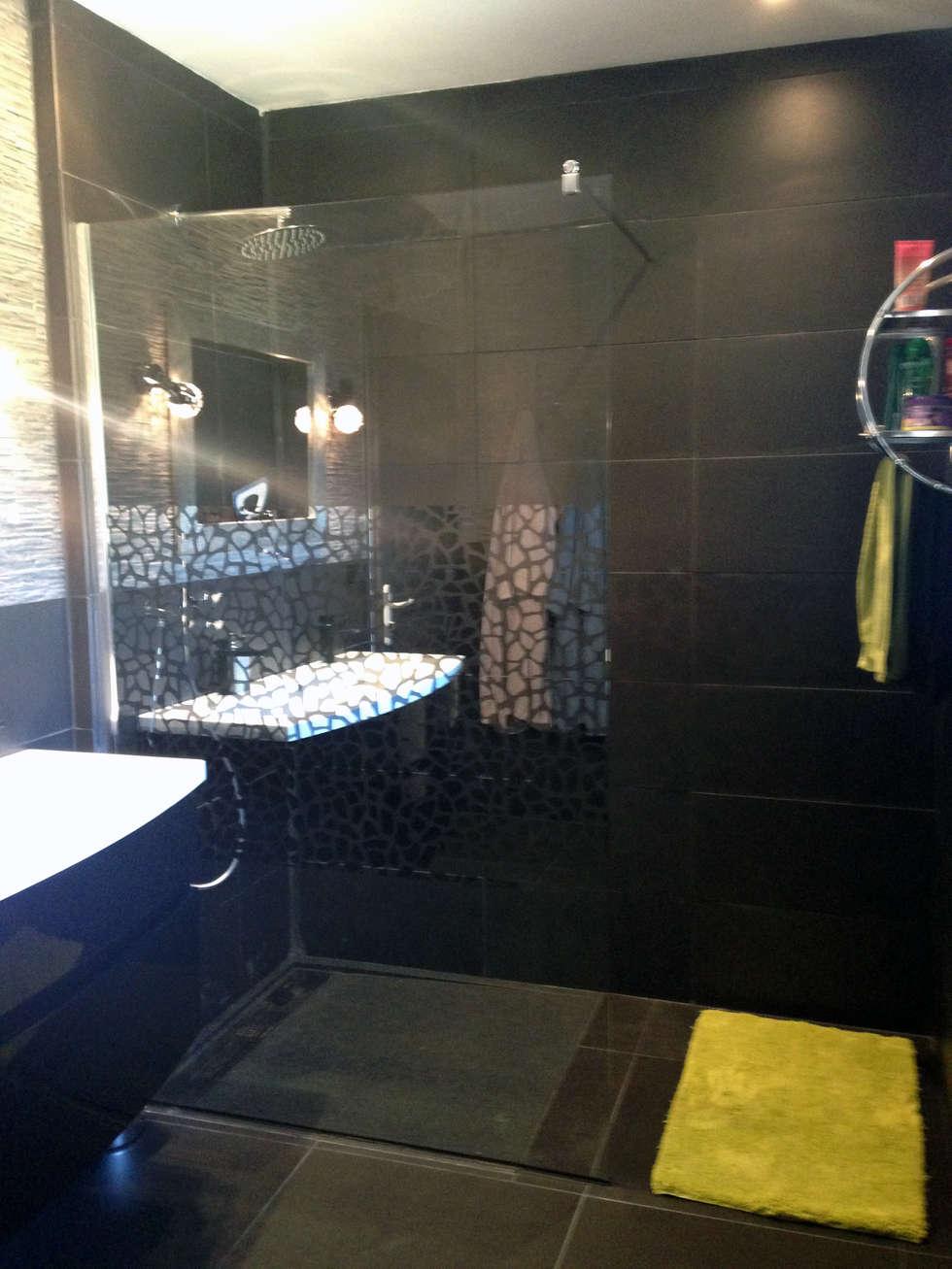 Salle de bain: Salle de bains de style  par Emilie Granato Architecture d'intérieur