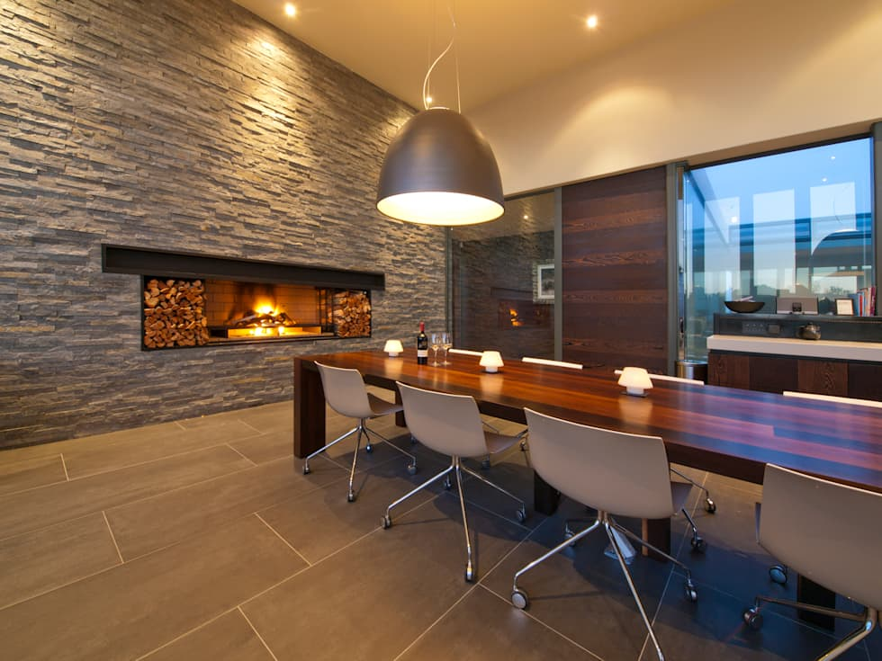 modern Dining room by van ringen architecten