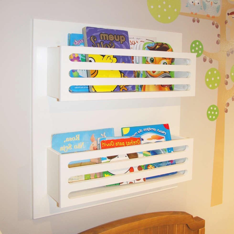 Fotos de quarto de crianças  prateleira de livros infantil  homi
