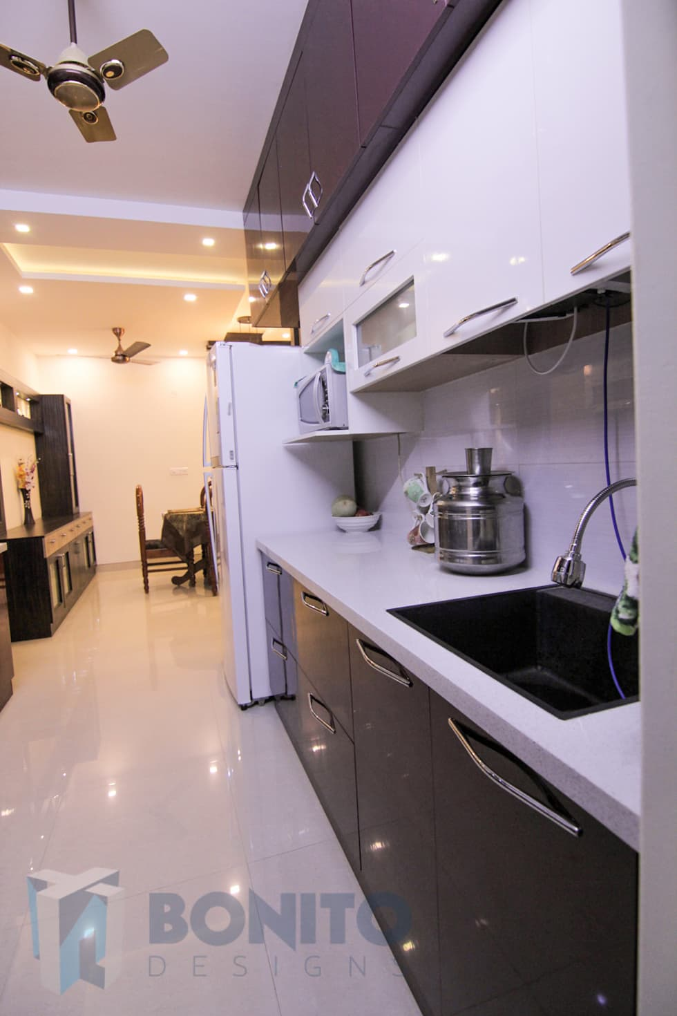 Parallel Kitchen Design: Asian Kitchen By Bonito Designs Bangalore Part 28