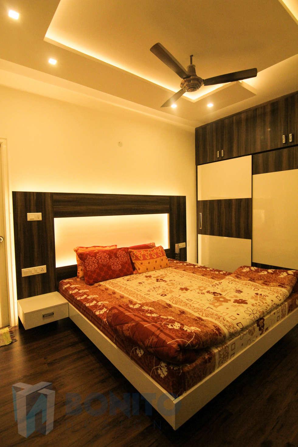 Master bedroom cot and wardrobe design  asian Bedroom by Bonito Designs  Bangalore. Asian bedroom photos  master bedroom cot and wardrobe design   homify