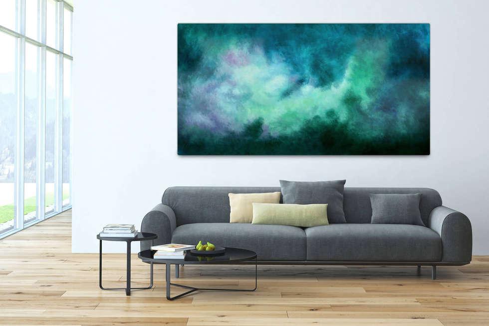 acryl gem lde 39 tanz der galaxien 39 200x100cm f r wohnzimmer moderne wohnzimmer von kunstloft. Black Bedroom Furniture Sets. Home Design Ideas