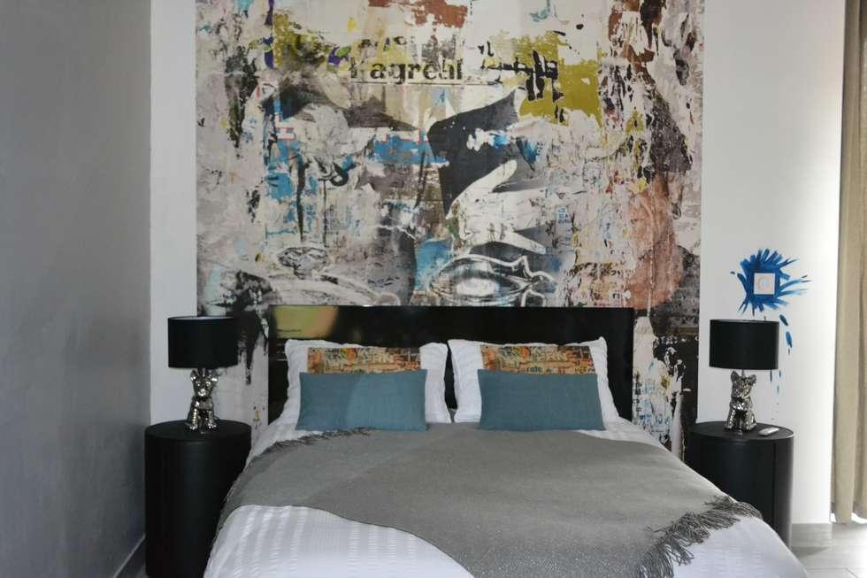 Chambre Arty: Chambre de style de style eclectique par KREA Koncept