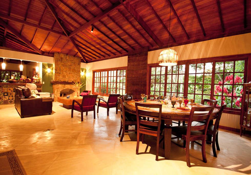 Sala De Estar Rustica Fotos ~ Fotos de salas de jantar rústicas sala estar jantar  homify
