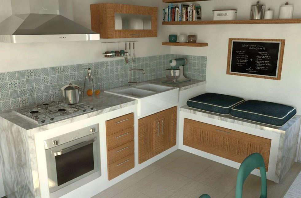 Interior Design Project: Renovation of a Country House | Progetto di interni: Riqualificazione Casa di Campagna: Cucina in stile In stile Country di Fabio Sillato Architect & Graphic Designer