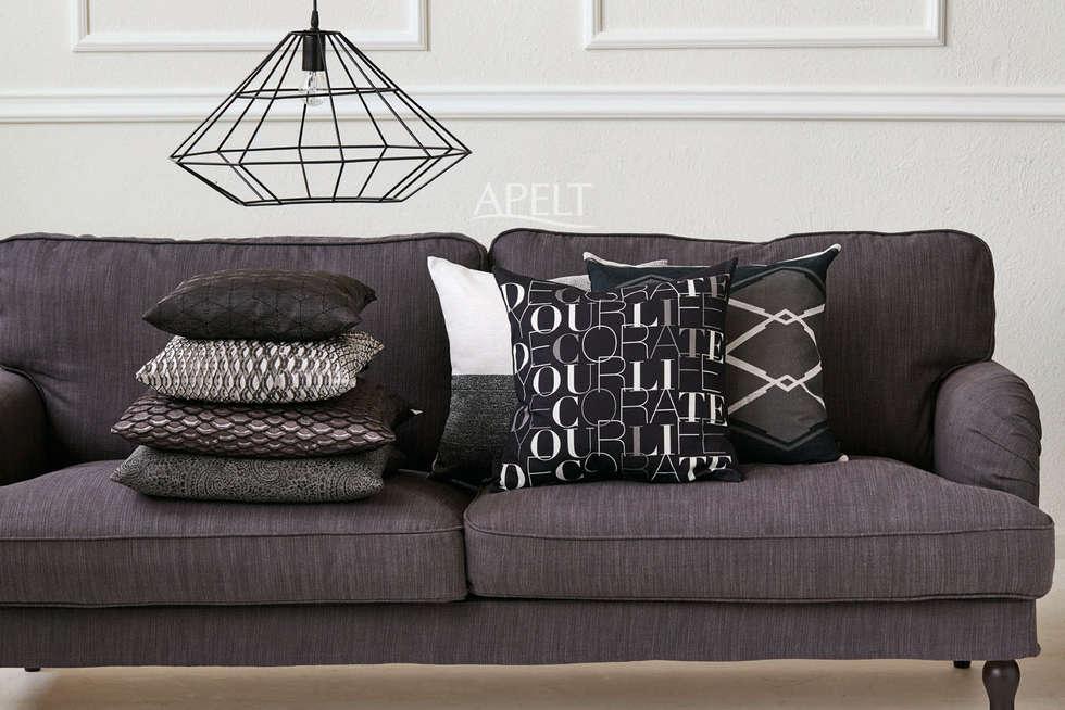 Kissen Im Modernen Loft Style: Moderne Wohnzimmer Von APELT STOFFE
