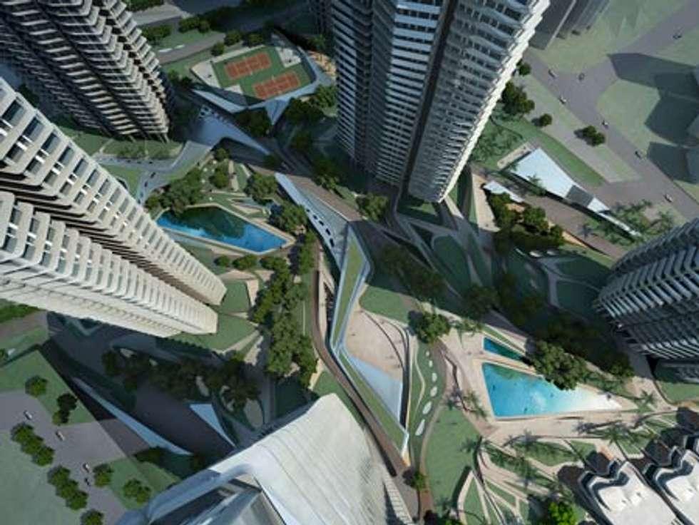 Vista aérea : Casas de estilo minimalista por Estudiante.proyectos