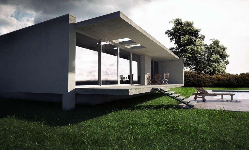 Minimal home: Case in stile in stile Minimalista di pixelgrafica