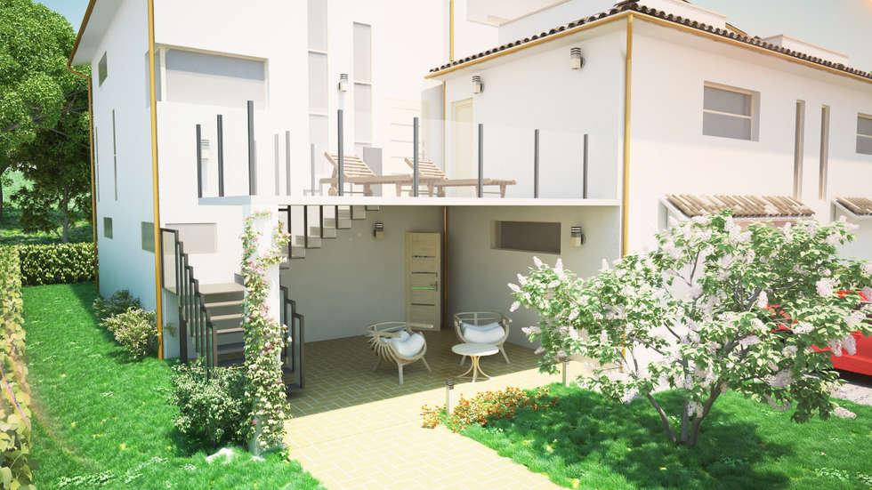Vista esterno: Giardino in stile in stile Moderno di Proreal3D