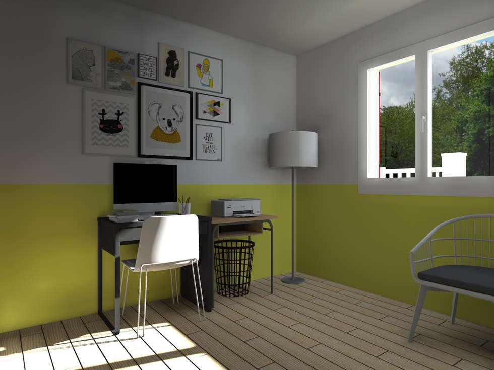 Maison neuve à Saint Jean d'Illac: Bureau de style de style Moderne par Sandia Design