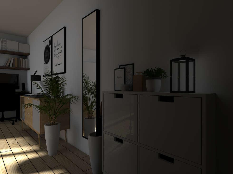 Espaces à vivre doux & lumineux: Couloir et hall d'entrée de style  par Sandia Design