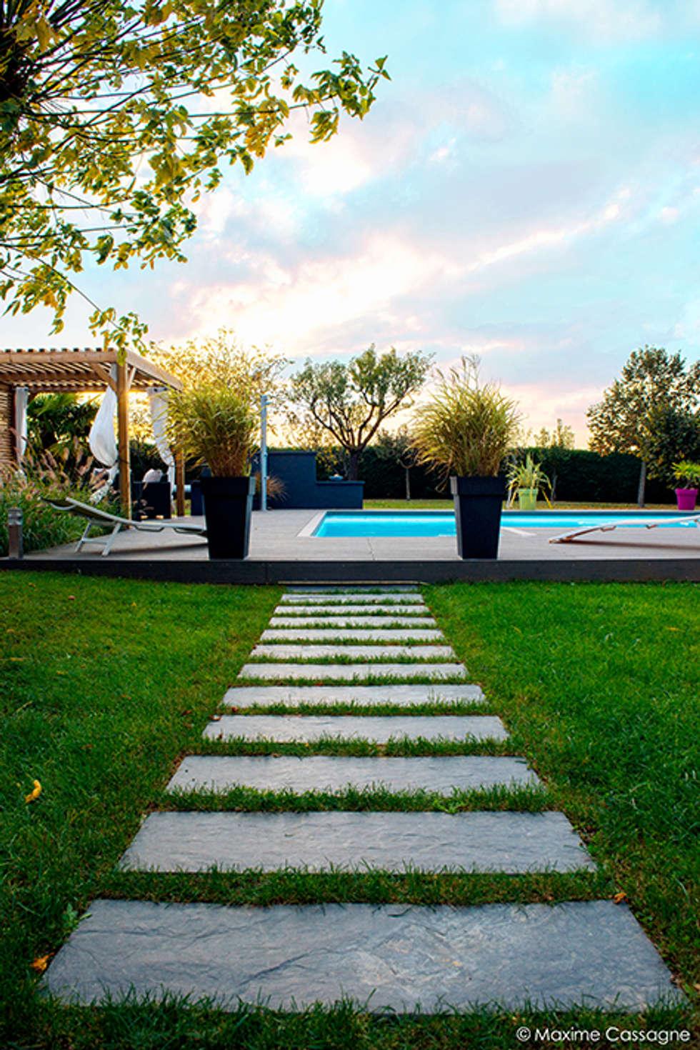 """"""" Un JARDIN DESIGN chez soi """": Jardin de style de style Moderne par E/P DESIGN - Emilie Peyrille"""